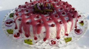 Tort inedit cu urda, ceapa si rodie