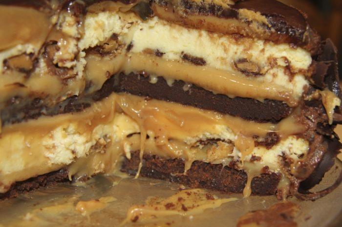 Prăjitură cu ciocolată şi caramel