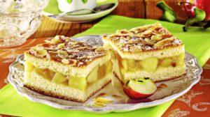 Prăjitură cu mere şi migdale