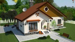 Casă de vis cu structură mixtă în suprafață de 97 m²