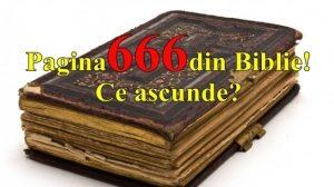 Ce secret ascunde pagina 666 din Biblie. Adevărul a ieșit la iveală!