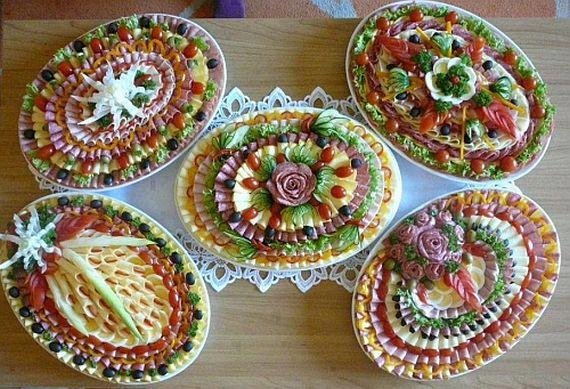 Idei pentru ornat platourile de aperitive pentru o masa aleasa de Revelion