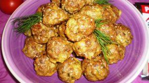 Chiftelute cu susan la cuptor, o reteta delicioasa
