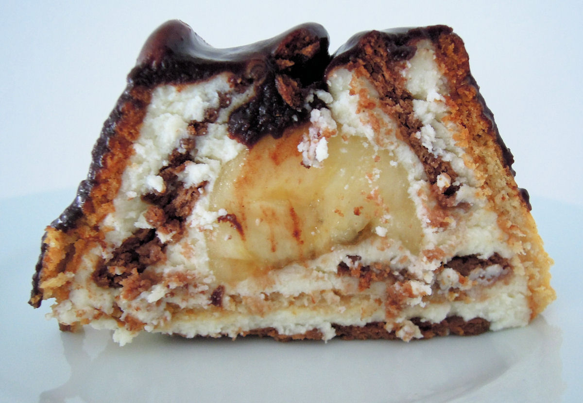 """Prajitura """" Cabană """" cu banane, budinca de vanilie si biscuiti !"""