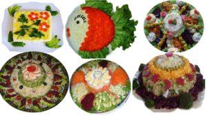 Salate frumos ornate pentru masa de Paste. Modele unicat!