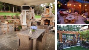Amenajari gradini cu spatii minunate de luat masa in aer liber