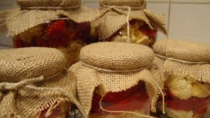 GOGOSARI & CONOPIDA  in otet si cu frunze de visin