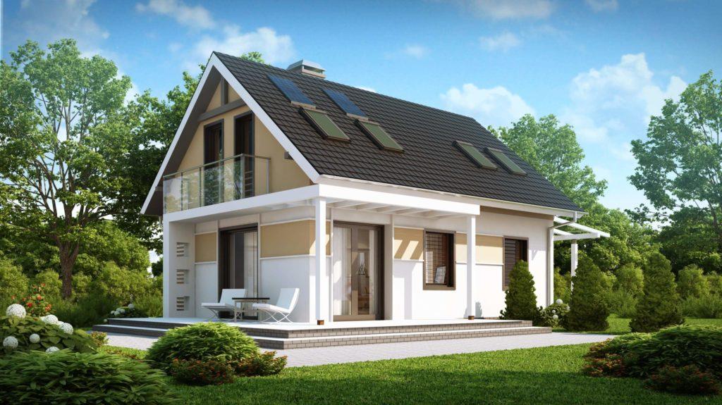 Casă de vis cu mansardă in suprafată de 85 m²