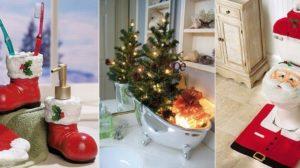 Idei minunate si haioase pentru a redecora baia in spiritul Sarbatorilor de iarna