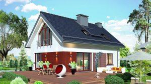 Proiect cu fotografii casă de vis mică cu mansardă de 114 m2