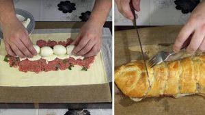Rulada care o să facă furori  – Rețetă pentru Ruladă cu carne și ouă fierte