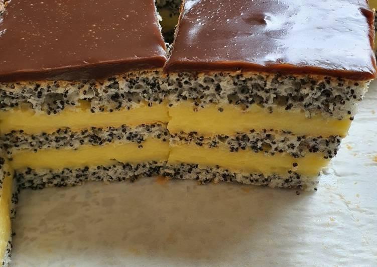 Cea mai gustoasă prăjitură cu mac și cremă de vanilie
