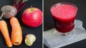 Ce se întâmplă când combinați sfecla roșie, morcovul și merele.  Au descoperit ca  poate chiar vindeca si cancerului pulmonar