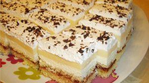 Prajitura cu cremă de brânză și lămâie