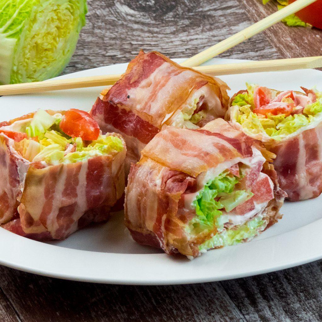Ruladă excelentă din bacon cu legume!