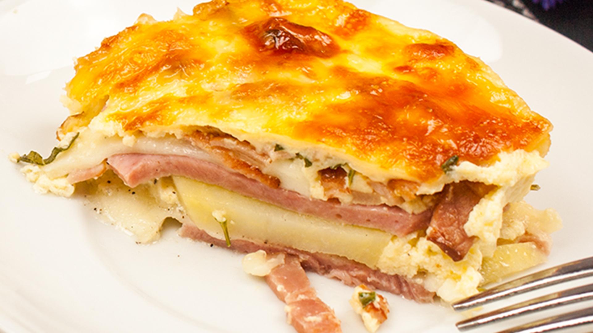 O rețetă italiană, făcută românește: Lasagna cu cartofi!