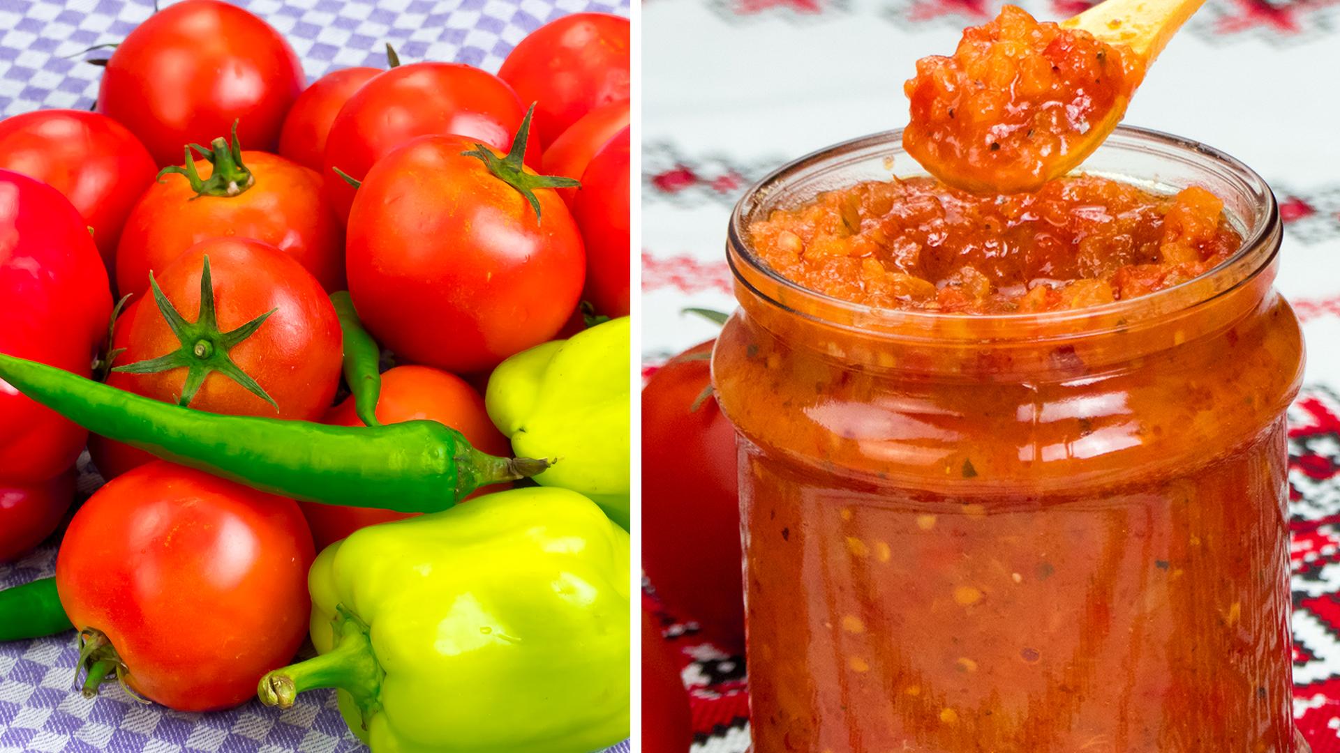 Acest sos din roșii și ardei este conserva preferată a întregii familii! Îl prepar deja câțiva ani la rând!