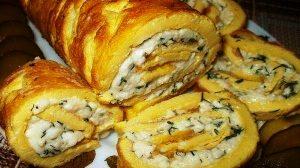 Ruladă din omletă delicioasă și rapidă!