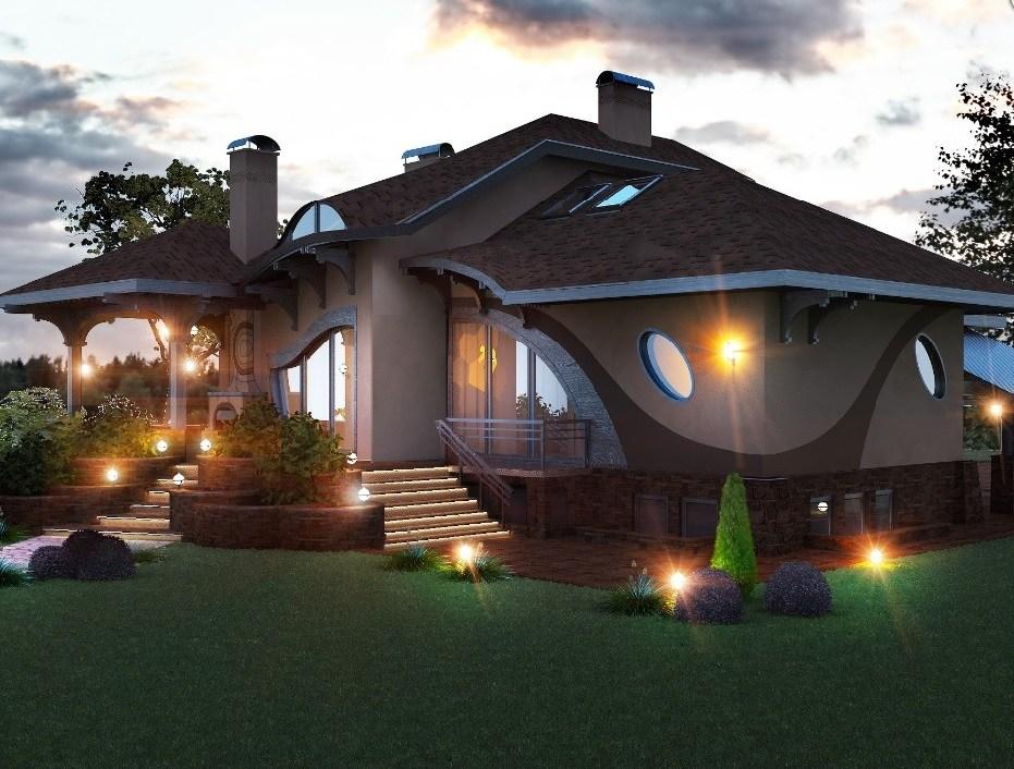Casă tip conac cu o arhitectură deosebită și un interior ce merită văzut!