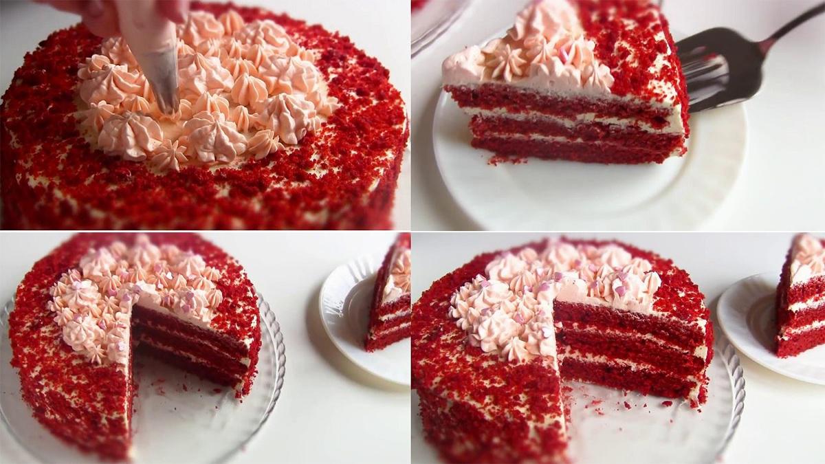 """PrăjituriRed Velvet Cake – Tort """"Catifea Roșie""""! Un desert ce va fi vedetă la masa de sărbătoare!"""