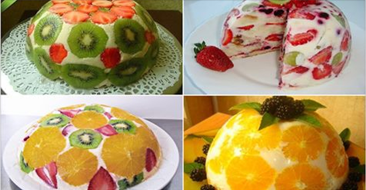 Tort cu fructe, fără coacere – o adevărată plăcere atât pentru ochi, cât și pentru papilele gustative!