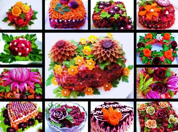 Salate festive decorate în mod special – creați o adevărată sărbătoare pe masa de Sarbatori!