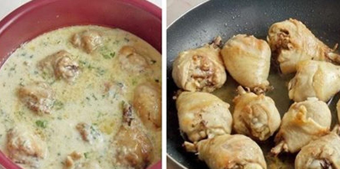 Tocaniță de pui cu smântână și ceapă – cel mai reușit mod de a pregăti carnea de pui!