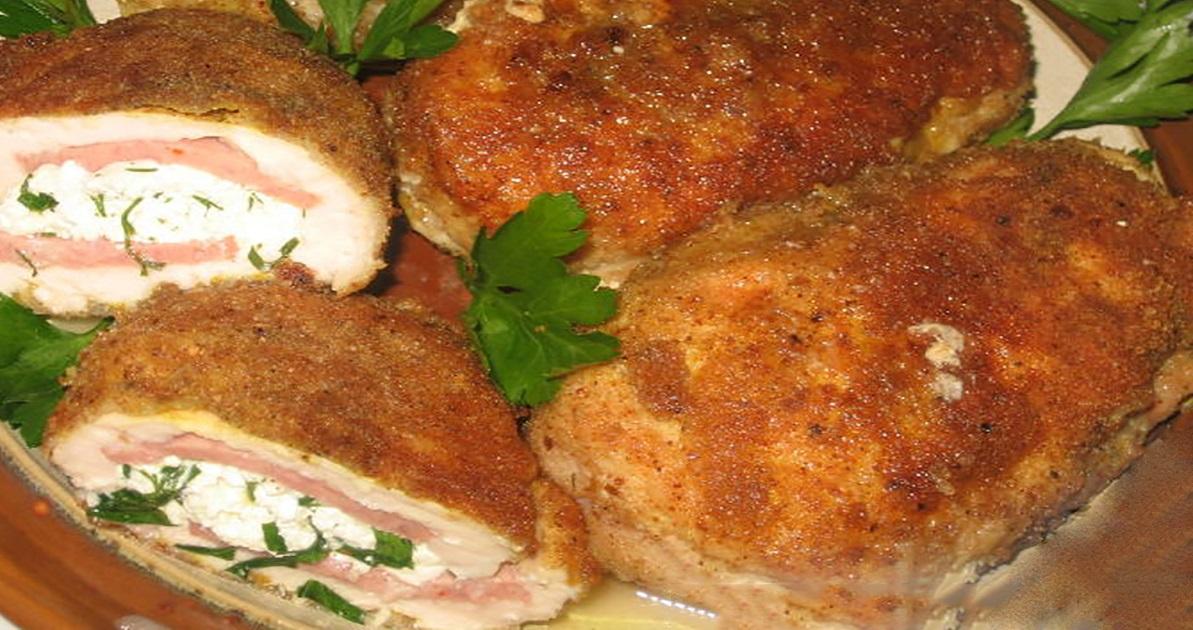 """""""Buzunare"""" de pui cu brânză și verdeață – o surpriză culinară pentru cei dragi!"""