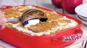 Desert din mere și biscuiți. O rețetă foarte simplă și gustoasă, care nu necesită coacere!