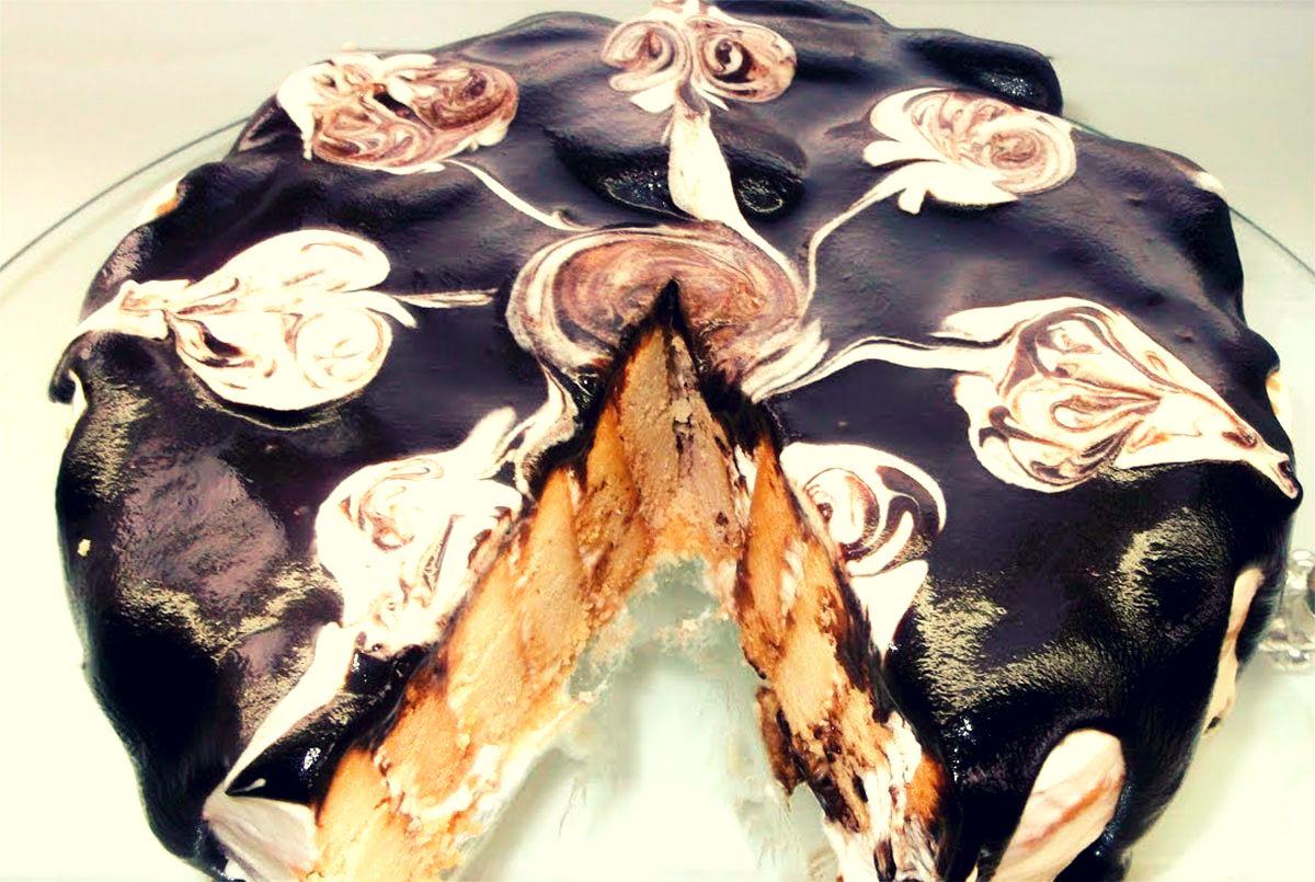 Tort delicios din biscuiți! Cel mai moale, fin și suculent desert fără coacer