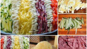 """Salată """"Câmpiile Elizee"""". Arată foarte frumos și original pe masă și e incredibil de gustoasă!"""
