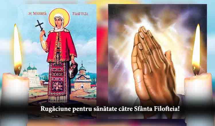 Citită 3 miercuri la rând, Rugăciunea la Sfânta Filofteia face minuni pentru sănătate!
