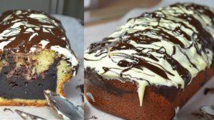Chec de vanilie, cu umplutură delicioasă de ciocolată – un desert deosebit de apetisant!