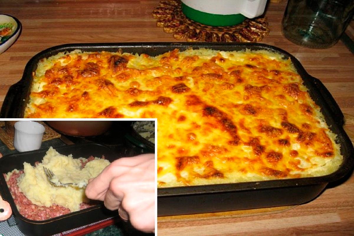 Caserolă cu cartofi și carne tocată – un deliciu pe placul tuturor bărbaților!