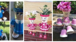 Figurine adorabile sau cum transformam creativ ghivecele din ceramica