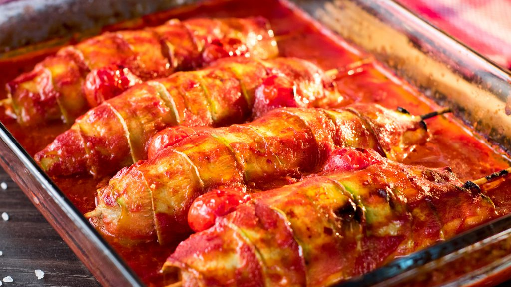 Dovlecei cu piept de pui la cuptor- uimeste-ti oaspetii cu aceasta reteta delicioasa!