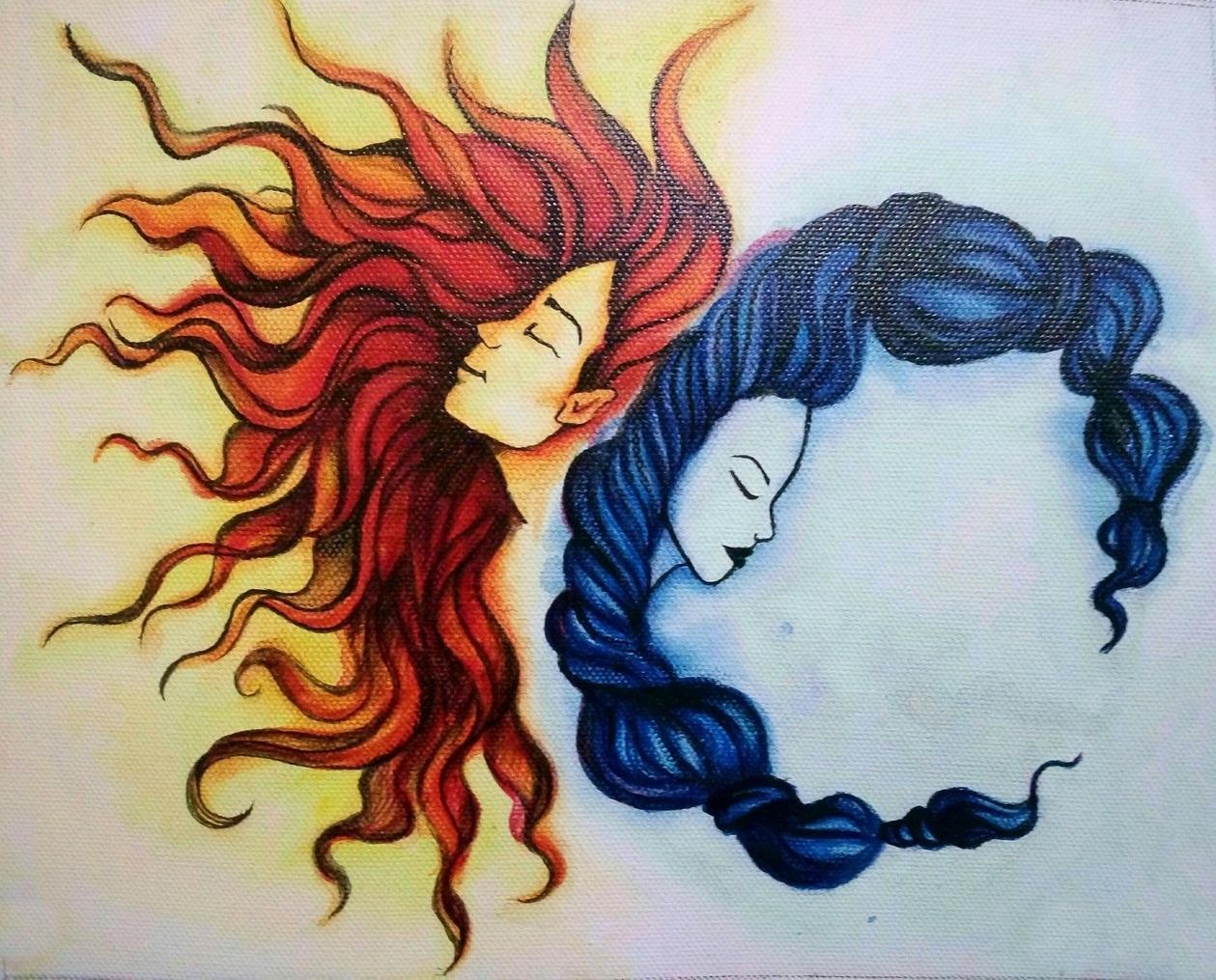 Soarele a iubit Luna atât de mult încât a trecut în neființă în fiecare noapte, doar ca să o lase pe ea să strălucească