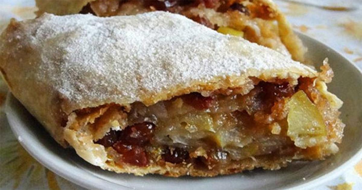 Ștrudel cu mere și stafide – un desert special, deosebit de savuros!