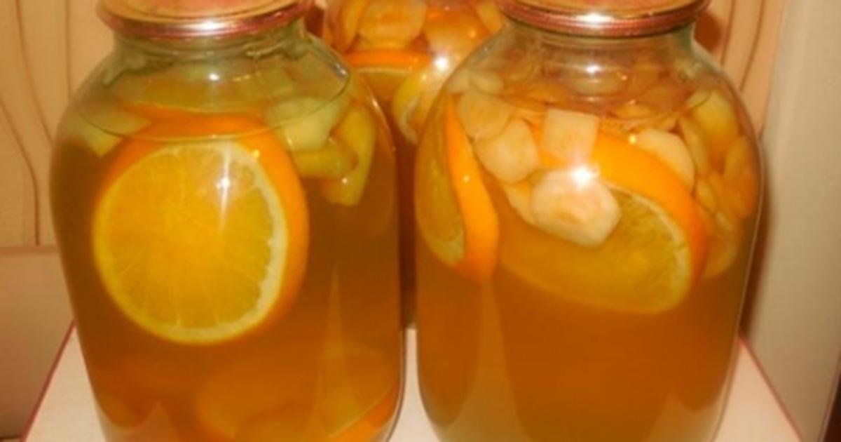 Compot din mere, lămâie și portocale – FANTA de casă, la borcan pentru iarnă